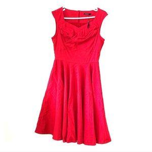 Red Rockability Valentine's Swing Dress NWT